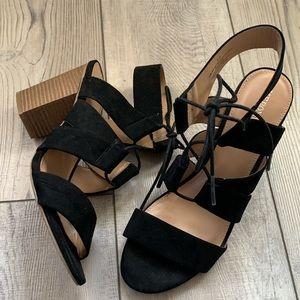 Merona faux suede leather sandal heels